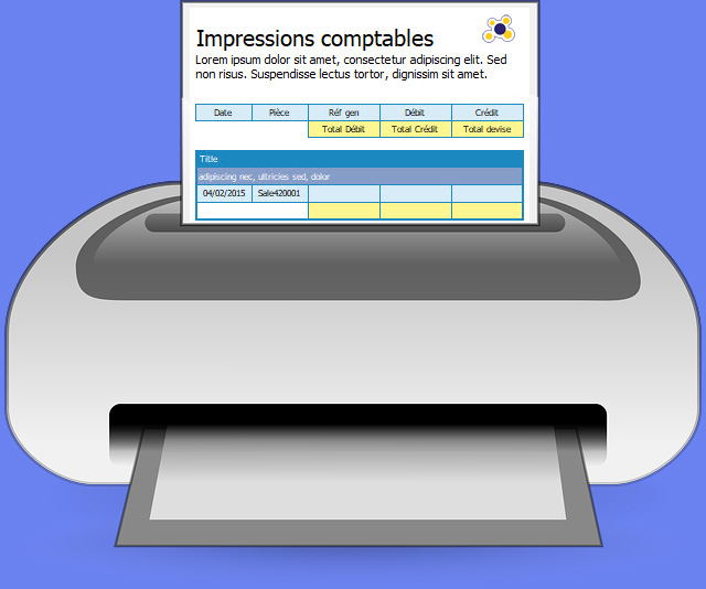 impressions comptables